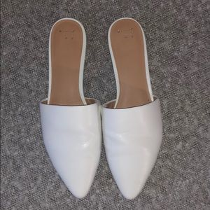A New Day bright White Mules Size 11